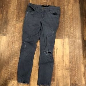 Express Blue mid rise jeggings